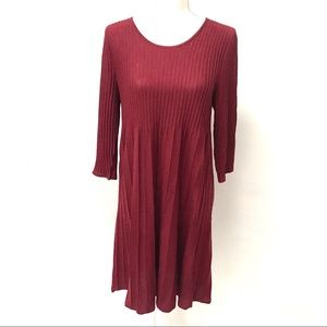 NWT Eileen Fisher Washable Wool Scoop Neck Dress M